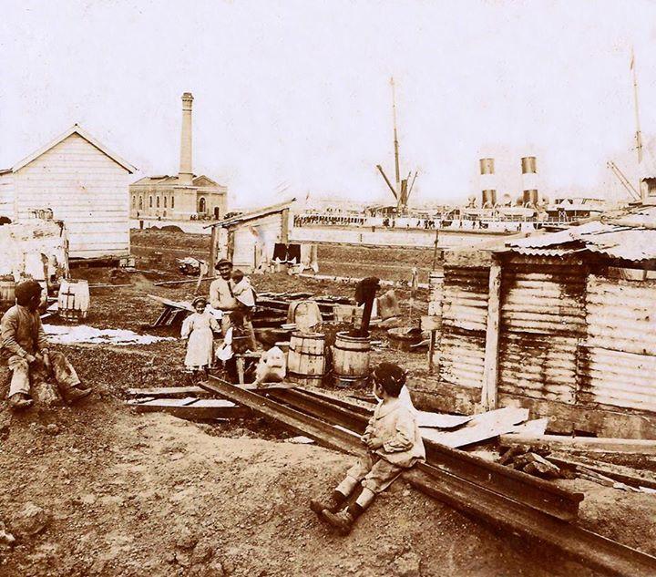 Famiglie al porto di Buenos Aires, 1890 ca.