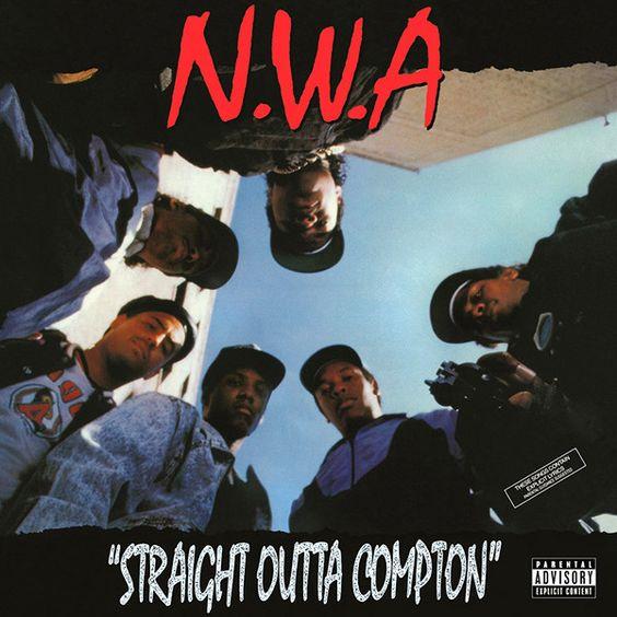 La copertina di Straight Outta Compton