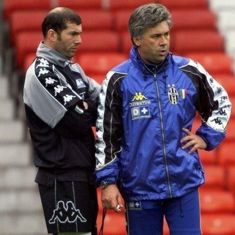 Zidane e Ancelotti