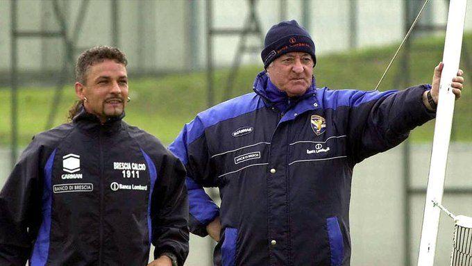 Roberto Baggio e Sor Carletto Mazzone
