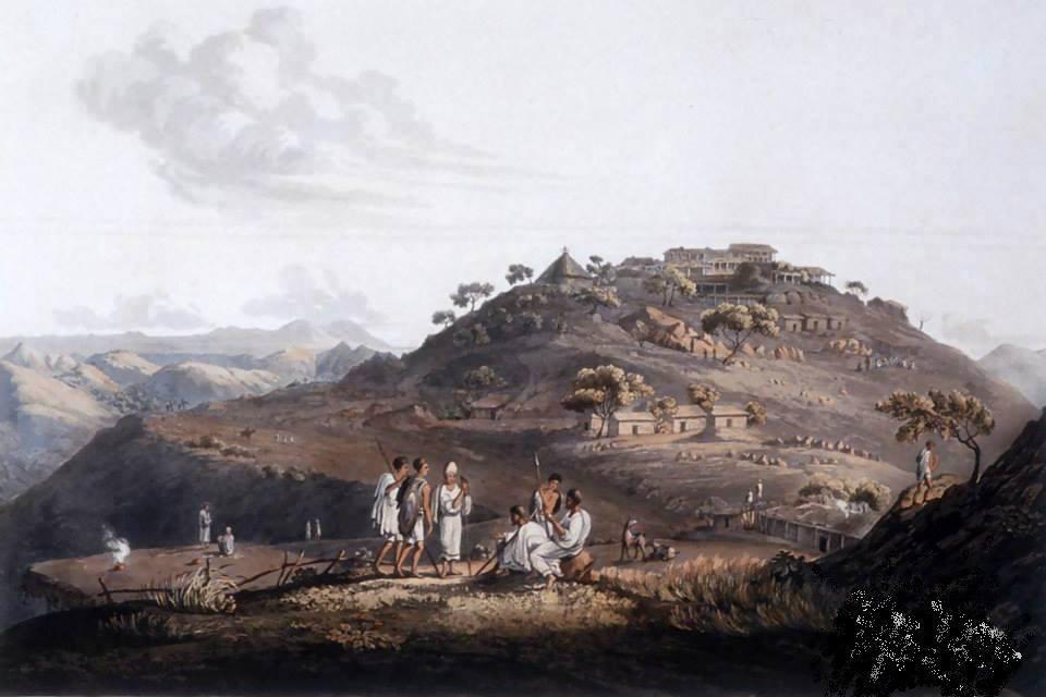 Rappresentazione di un centro abitato dell'Eritrea ai tempi del Medri Bahri nel 1805 @Alchetron