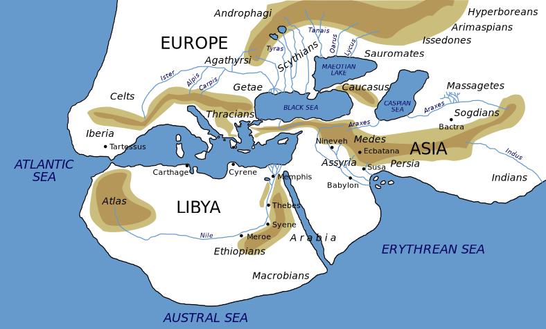 Il mondo come descritto da Erodoto nel V secolo
