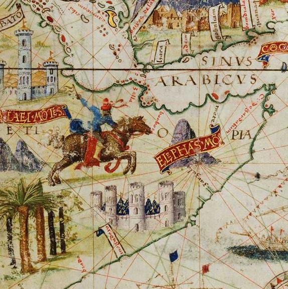 Le mura di Mogadishu in una rappresentazione portoghese del 1519
