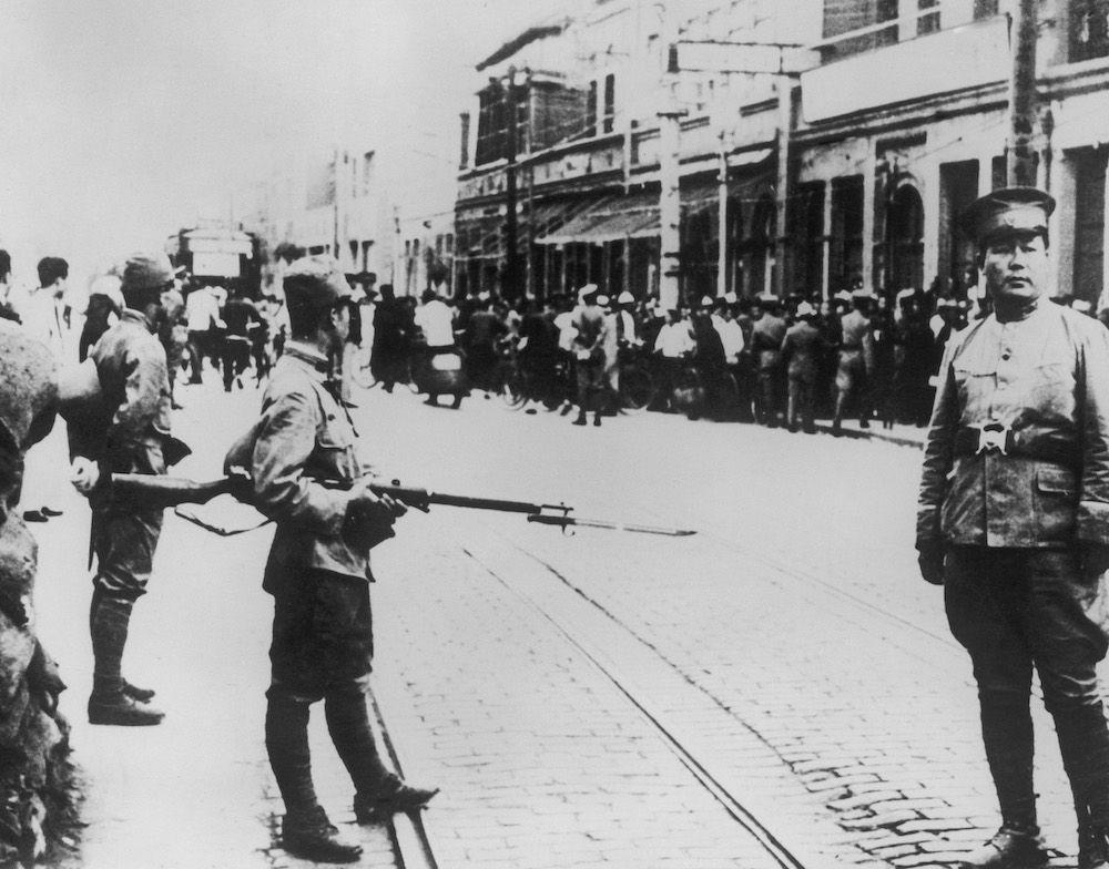 Truppe giapponesi a Tianjin nel 1939