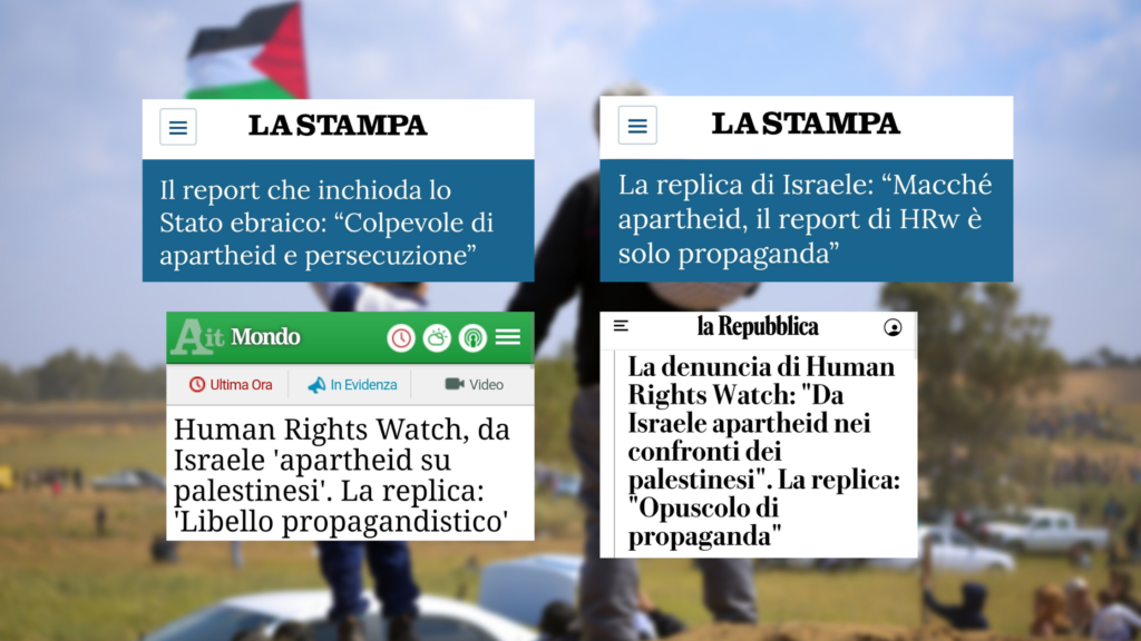 I titoli delle testate considerate: La Stampa, ANSA e La Repubblica