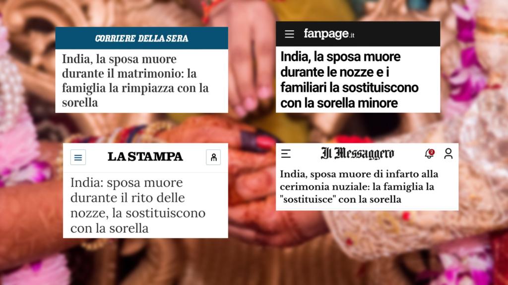 I titoli delle tesate considerate: Il Corriere della Sera, Fanpage.it, La Stampa, Il Messaggero