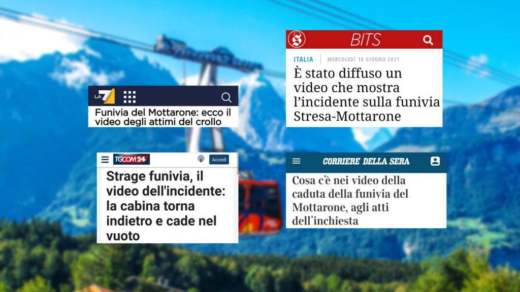 I titoli delle testate considerate: La7, Il Post, TGcom24, Il Corriere della Sera