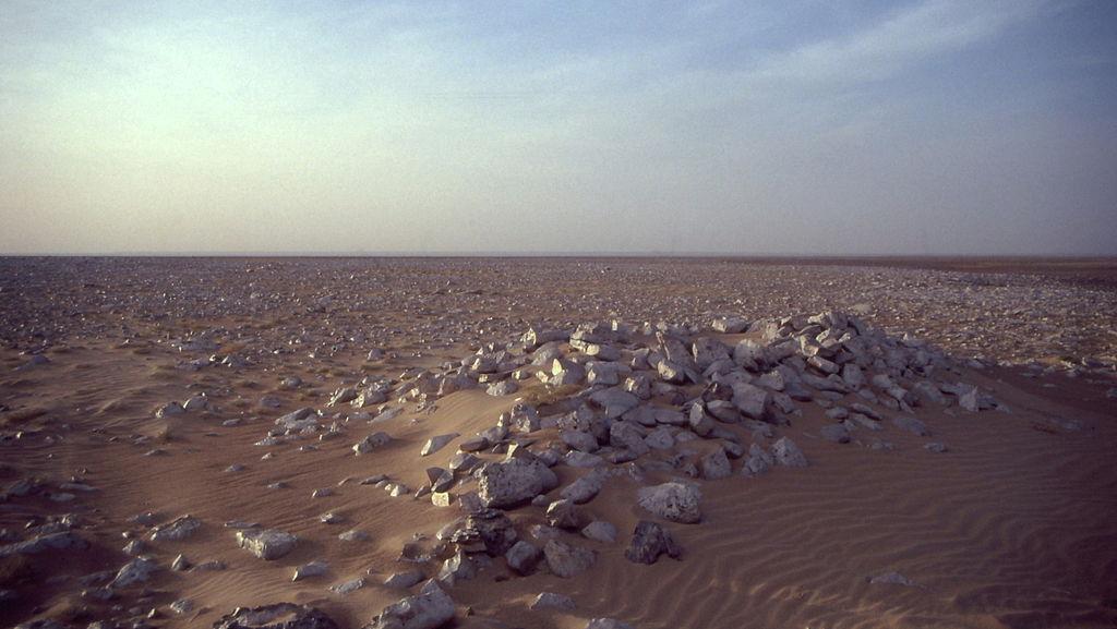 Il paesaggio desertico del Tanezrouft, regione al confine tra il Niger e il Mali.  Paesaggio non dissimile da quello che si presentò agli occhi di Mansa Musa durante il suo pellegrinaggio