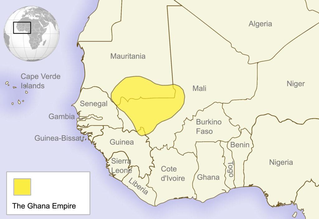Estensione dell'Impero del Ghana
