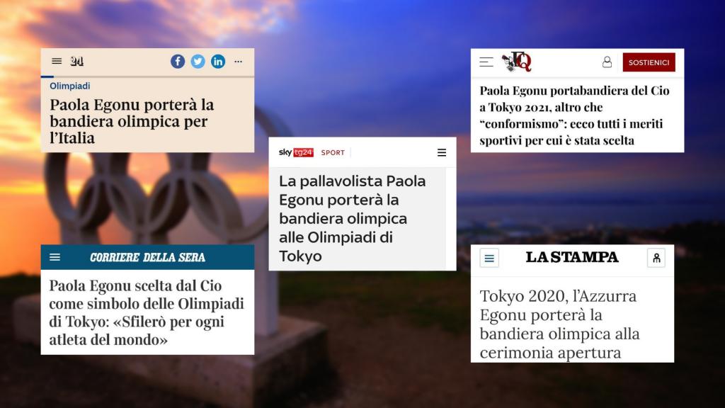 I titoli delle testate considerate: Il Sole 24 Ore, Il Corriere della Sera, Sky TG24, Il Fatto Quotidiano e La Stampa